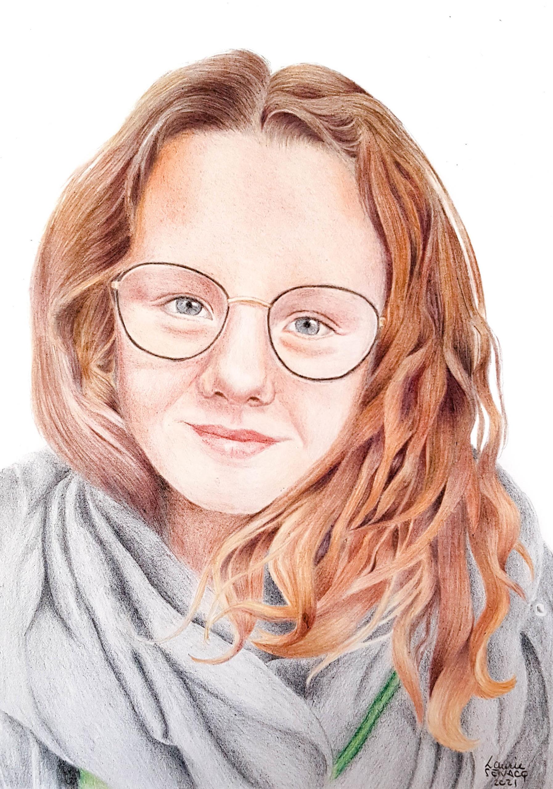 Meloé aux crayons de couleur par Laurie Sénacq